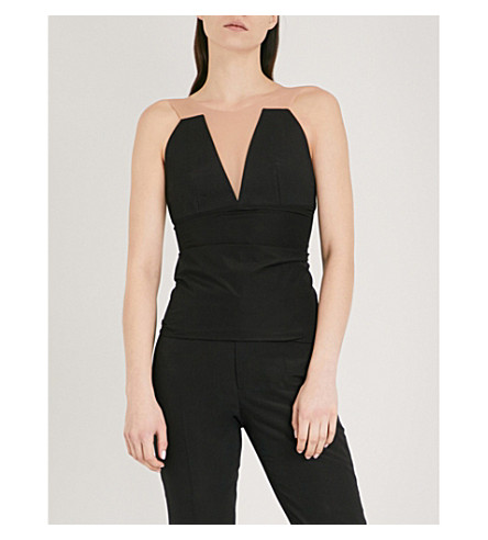 RICK OWENS Prong structured bustier top (Black