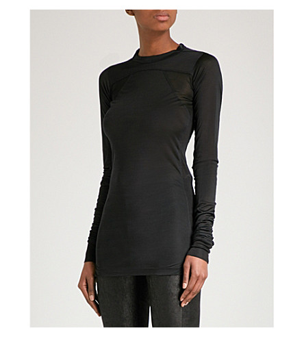 RICK OWENS Plinth silk top (Black