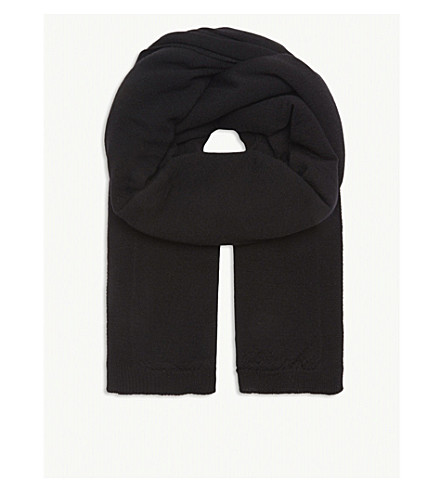 RICK OWENS Oversized wool scarf (Black
