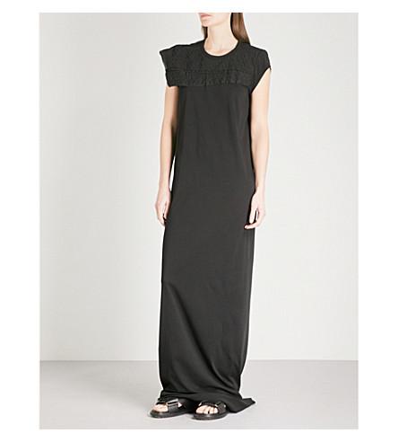 RICK OWENS Scaffolding cotton column gown (Black
