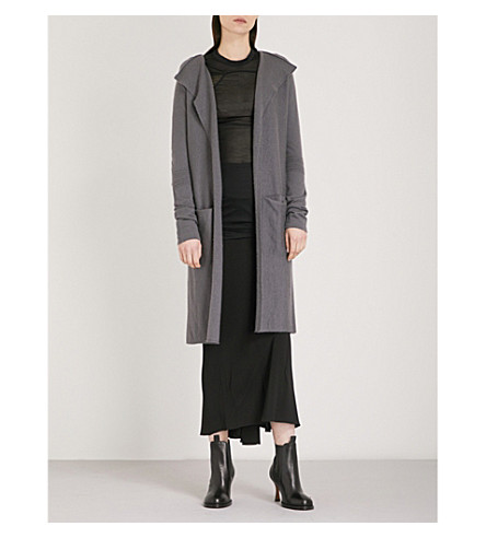 RICK OWENS Open-front cashmere cardigan (Iron