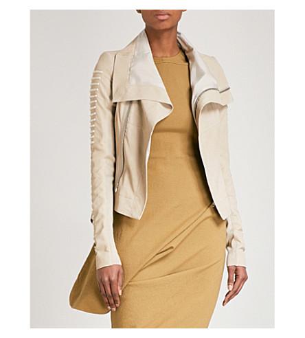 RICK OWENS Naska leather jacket (Pearl/silver