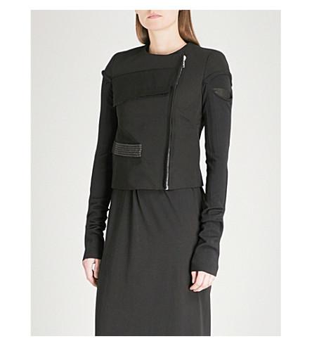RICK OWENS Textured-detail woven jacket (Black/judd+black