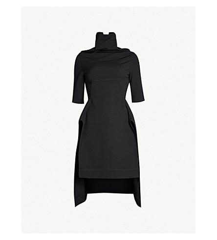 RICK OWENS Calla cotton-blend tunic (Black