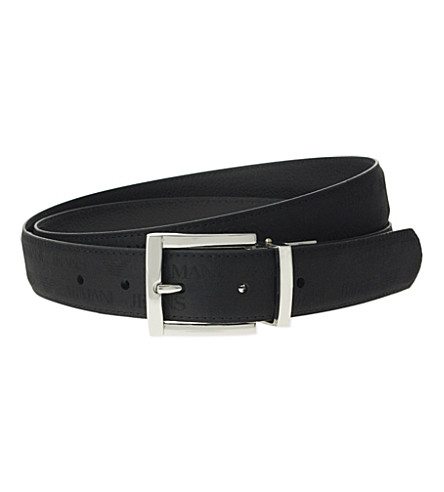ARMANI JEANS Reversible leather belt (Black