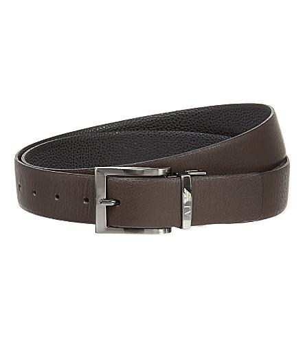 ARMANI JEANS Reversible leather belt (Black/brown