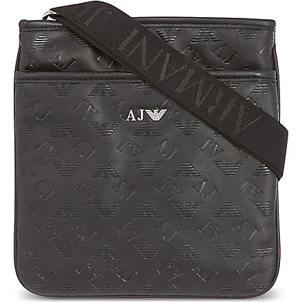 ARMANI JEANS Eco leather sling bag (Black