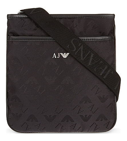 ARMANI JEANS Logo cross-body bag (Black