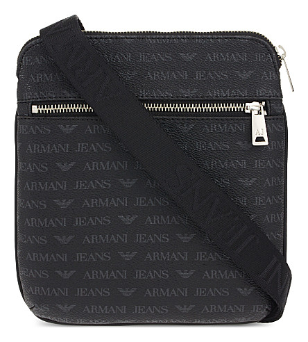 ARMANI JEANS Small messenger bag (Black