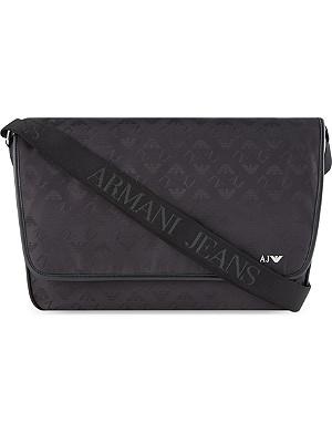 ARMANI JEANS Eagle print messenger bag