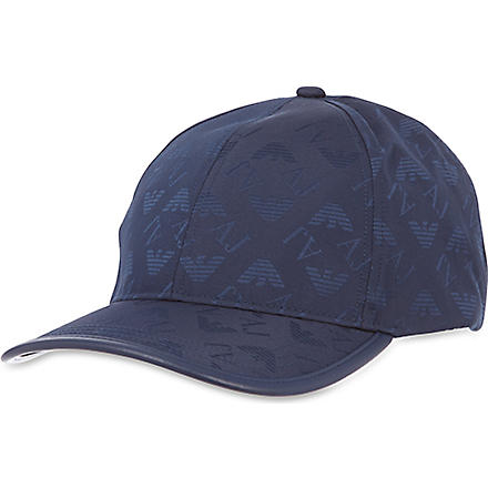 ARMANI JEANS All-over logo cap (Navy