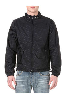 ARMANI JEANS Logo-printed zip-up jacket