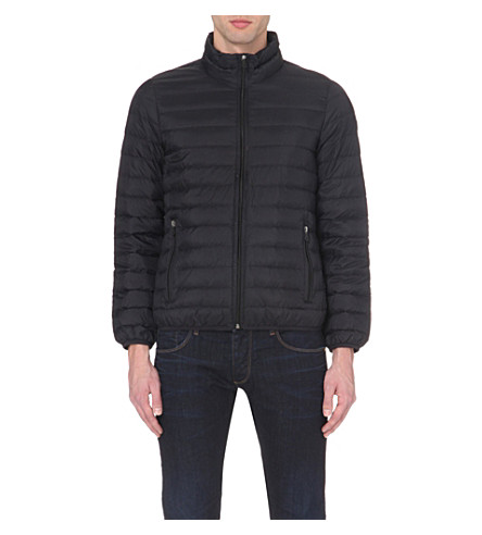 ARMANI JEANS Quilted shell jacket (Black
