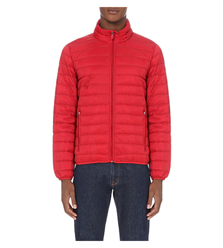 ARMANI JEANS Quilted shell jacket (4h+rosso+red