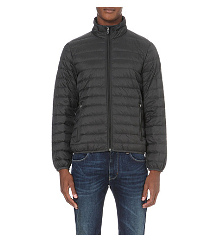 ARMANI JEANS Quilted shell jacket (52+grigio+grey