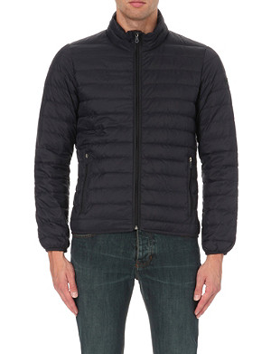ARMANI JEANS Quilted down shell jacket