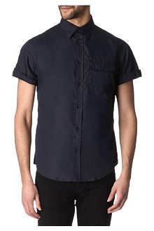 ARMANI JEANS One-pocket cotton shirt
