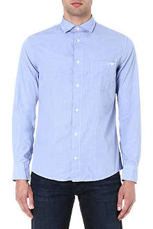 ARMANI JEANS Small check logo shirt