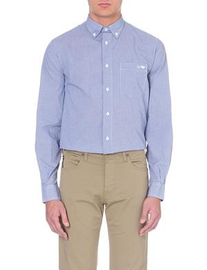 ARMANI JEANS Gingham button-down shirt