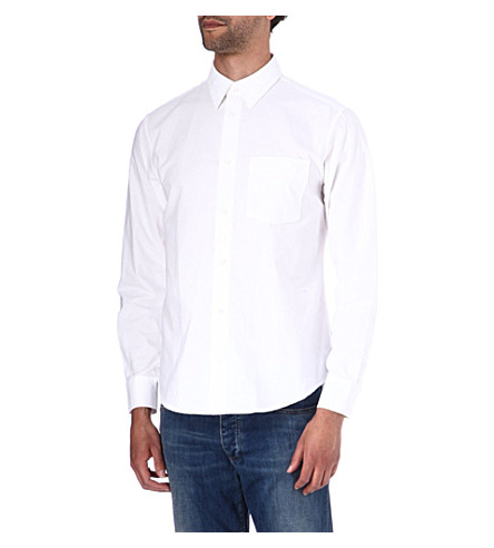 ARMANI JEANS Regular-fit Oxford shirt (White