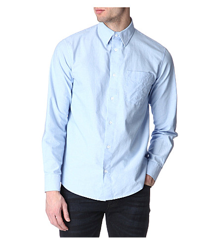 ARMANI JEANS Oxford regular-fit shirt (Sky