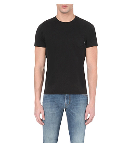 ARMANI JEANS Slim-fit cotton-jersey t-shirt (Black