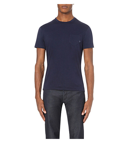 ARMANI JEANS Slim-fit cotton-jersey t-shirt (Blue