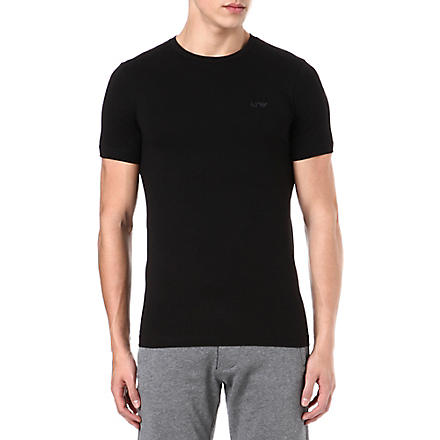 ARMANI JEANS Basic logo t-shirt (Black