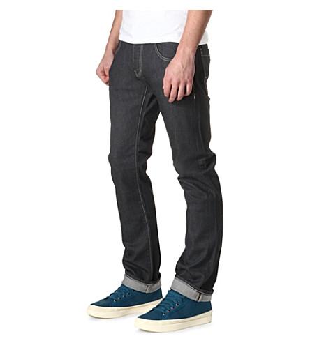ARMANI JEANS J08 straight slim-fit jeans (Grey