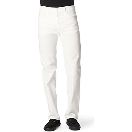 ARMANI JEANS Stretch-cotton chinos (White