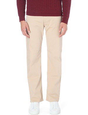 ARMANI JEANS Stretch-cotton chinos