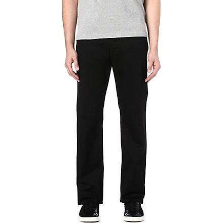 ARMANI JEANS Regular-fit straight jeans (Black