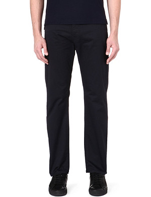 ARMANI JEANS Stretch-cotton gabardine trousers 32