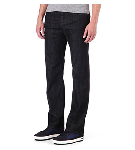 ARMANI JEANS Regular-fit straight jeans (Black