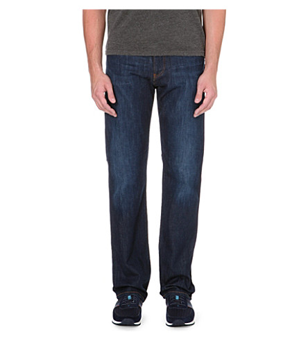 ARMANI JEANS Dark blue regular-fit stretch-denim jeans (Blue