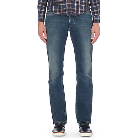 ARMANI JEANS J12 regular-fit straight jeans (Blue