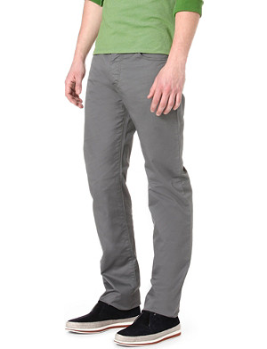 ARMANI JEANS Stretch-cotton gabardine trousers 34