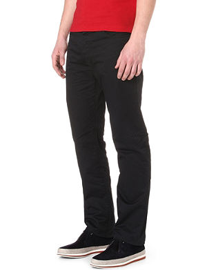 ARMANI JEANS Stretch-cotton gabardine trousers