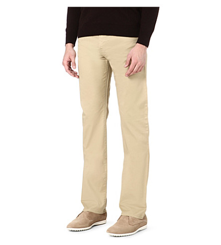 ARMANI JEANS Stretch-cotton trousers (Beige