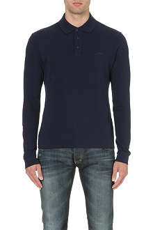 ARMANI JEANS Branded cotton polo shirt