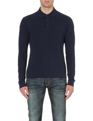 ARMANI JEANS Branded cotton polo shirt