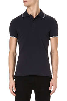 ARMANI JEANS Twin-tipped piqué polo shirt