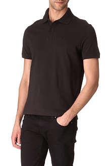 ARMANI JEANS Plain cotton-piqué polo shirt
