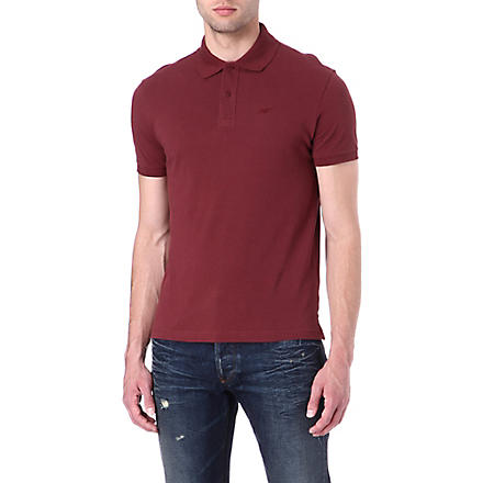 ARMANI JEANS Embroidered-logo polo shirt (Bordeaux
