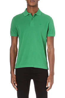 ARMANI JEANS Embroidered-logo polo shirt