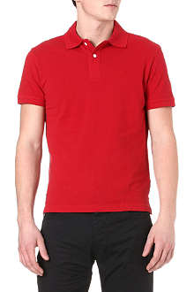 ARMANI JEANS Plain cotton-piqué polo shirt