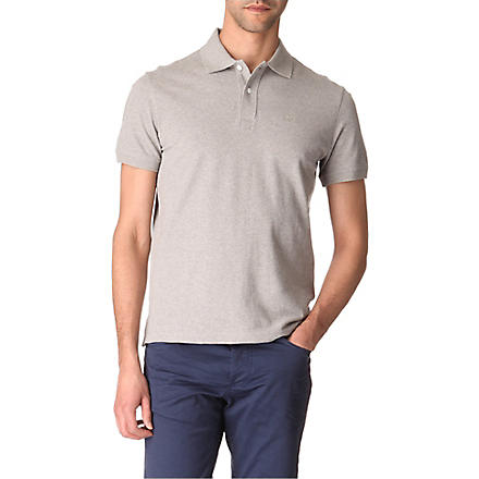 ARMANI JEANS Plain cotton-piqué polo shirt (Grey