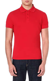 ARMANI JEANS Logo cotton-piqué polo shirt