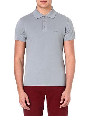 ARMANI JEANS Logo-embroidered polo shirt