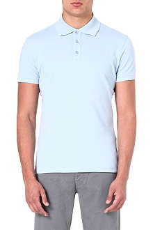 ARMANI JEANS Logo-embroidered polo shirt